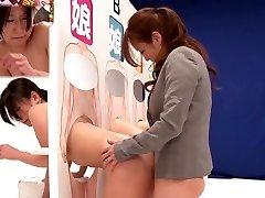 Amazing Japanese whore Saki Izumi, Hitomi Honjou, An Mizuki, Amateur in Fabulous strap on dildo, lesbian JAV clip