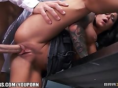 Incredibly Red-hot instructor's assistant Crista Moore fucks her prof