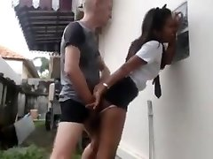 White guy penetrates his asian maid