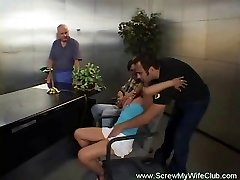 Swinger hot wife pounds while hubby watches
