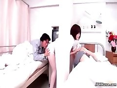 Sexy Chinese nurse gives a patient some partTrio