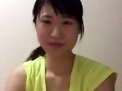 Asian college woman periscope downblouse boobs