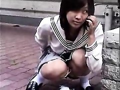 Bottomless Chinese nurse sixtynine oral in public