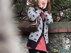 Japanese fuckslut flashing