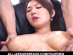 Busty Asian female feels eager to nail