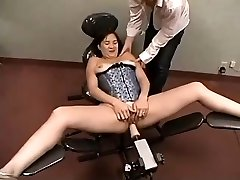 Amateur Plays With Nailing Machine