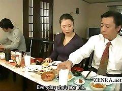 Subtitled bizarre Japanisch bodenlose ohne Höschen Familien