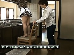 Nao Ayukawa hot girl sizzling Asian model likes fucking in the kitchen