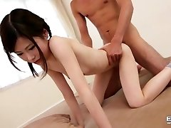 Japanese teen gets her face cum facialed