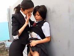 Hottest Japanese whore Kurumi Katase in Exotic College, Finger-tickling JAV movie
