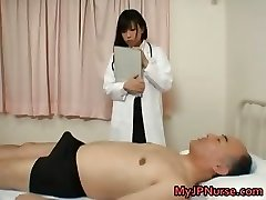 Asian doctor is horny for shaft part1