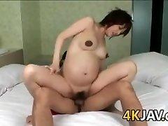 Gravide Japansk Skjønnhet