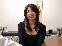 Adorable Jap slut filled from behind during a medical exam
