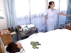 Asian nurse helping out