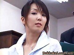 Super-sexy real asian Shiho getting jizz part3