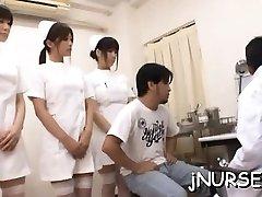 Stunning nurse rides patient's humungous knob energetically