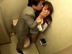 Japanese Gal Fucked in the Bathroom
