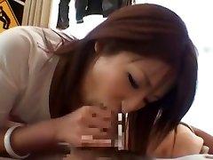 Hottest Japanese girl Saya Mizuki in Horny Blowjob, Casting JAV pinch