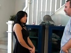 Chubby chinese nephew fuck and creampie on the stairs