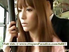 Miho Maeshima Kínai lány kap egy cum terhelés a szemüvegét