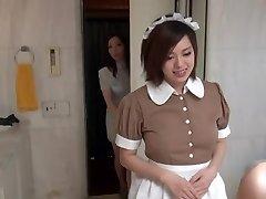 Seksi Orientalski Sluškinju v erotičnem hotelu scene