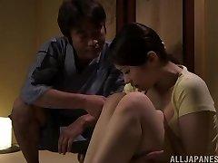Hot Asian milf Asami Nanase gives a face drilling
