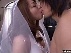 During her wedding she has to deep-throat on a rigid wiener
