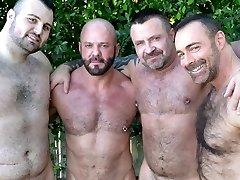 Brad Kalvo, Rex Blue, Marc Angelo and Carlo Cox - BearFilms