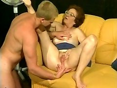 Retro grandma gets steamy dicking from muscled stud