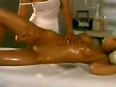 Glamour lezzies massage and lick each other