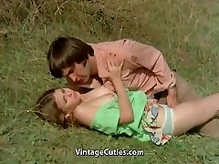 Boy Tries to Seduce teen in Meadow (1970s Antique)