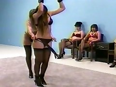 female dominance whipping in undergarments (bra and fullback pantys)