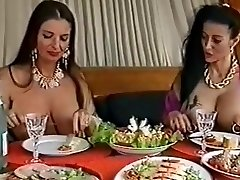 Two big-boobed pierced sluts having fun