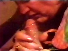 Retro Cumshot Fills Her Mouth With Cum Till It Rivulets Back Out