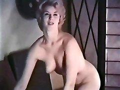 PERHAPS - vintage platinum-blonde striptease stockings mittens