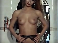 Do you indeed want to? - vintage british stockings tease