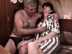Vintage French sex video with a mature hairy duo