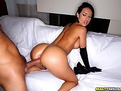 Smoking hot franceska gets her amazing ass pounded hard in her latex cat outfit