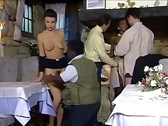 Dinner at the restaurant turns into an fuck-a-thon