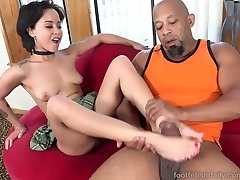 Mia Austin Receives a Foot Adoring and Pussy Pounding