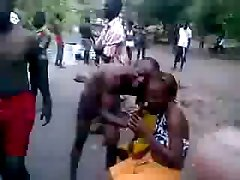 african slut get fucked on public