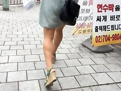 Upskirt Stairs: Super Hot Asian With Massive Bosoms