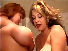 Hugetitted Babes Playing In Bathroom