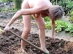 girl mature garden outdoor anal handballing fake penis 21
