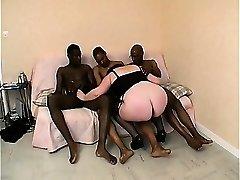 Sylviane a BBW group-fucked by ebony cocks
