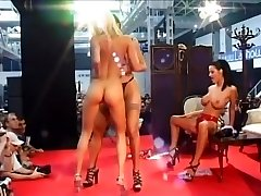 Three Nasty Nymphs Grind Naked On Stage