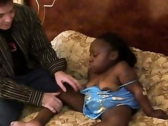 Insane black midget chick is getting boinked hard