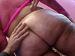 Two cocks for this busty babe