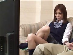 father and Concerned Looking not his daughter Watch an AV