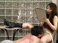 Asian domina spank